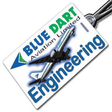 Blue Dart 757 Engineering Tag